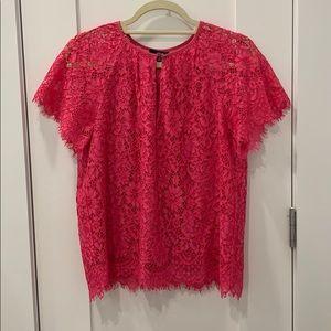 JCrew Short Sleeve Lace Top